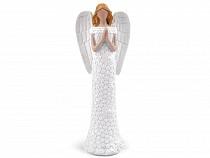 Decorative Angel Figurine with Glitter