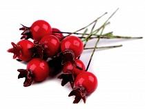 Sztuczne owoce dzikiej róży do aranżacji