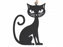 Black Metal Cat for Hanging