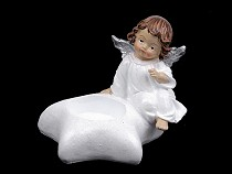 Dekoráció angyal gyertyára, csillogó