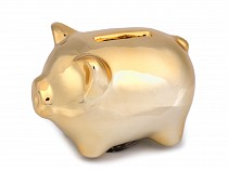 Golden piggy bank for good luck / treasure chest