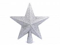Vánoční hvězda na stromeček s glitry