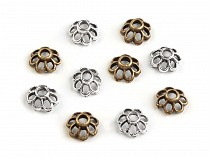 Metal Bead Caps 4x7 mm Flower 2nd quality