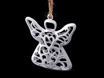 Aniołek metalowy do zawieszenia 3D