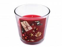 Vánoční vonná svíčka ve skle