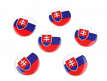 Badge - Flag Slovak Republic Ø3.5 cm