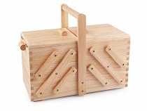 Folding Oak Sewing Basket