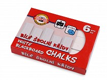 School Chalks white 6 pcs