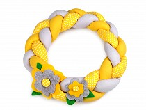 Spring Braided Fabric Wreath