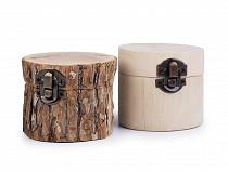Dřevěná krabička 6,5x8 cm