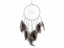 Dream catcher with beads and feathers