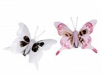 3D dekoráció pillangó csipesszel