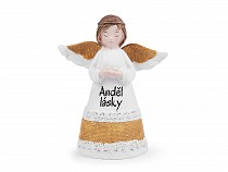 Angel decoration with inscription