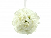 Rose Flower Kissing Ball for Wedding Party, Home Decor Ø15 cm