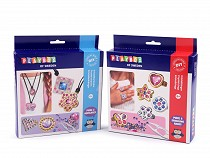Creative DIY Set of Necklaces and Rings with Rhinestones