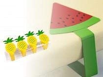 Cleme față de  masă, ananas, lămâie, pepene verde, 4 buc