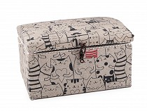 Sewing Cassette / Basket, Upholstered Cats