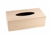 Pudełko drewniane na chusteczki do ozdobienia