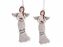 Dekorációs angyal akasztásra felirattal