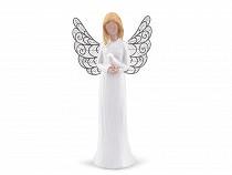 Aniołek dekoracja z ażurowymi skrzydłami