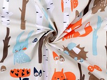 Cotton Fabric, Fox in the Forest