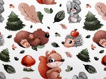 Bavlnená látka lesné zvieratká