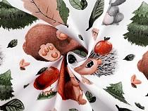 Tkanina bawełniana leśne zwierzątka