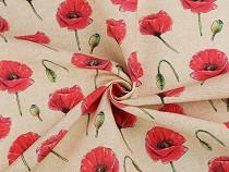 Decorative Fabric Loneta, Red Poppy