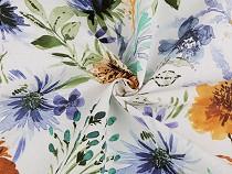 Dekorační látka Loneta květy