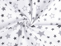 Bumbac flanelat, motiv steluțe