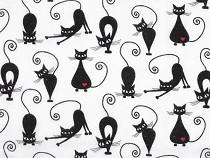 Baumwollflanell Katzen