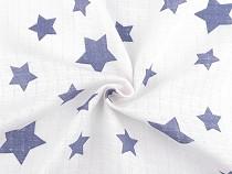 Bavlnená plienkovina hviezdy veľké