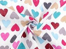 Bavlnená plienkovina srdce