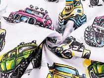 Bavlnená látka autá