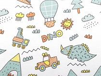 Cotton Knit Fabric, Dinosaurs / Dino