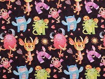 Jersey Knit Fabric Monsters