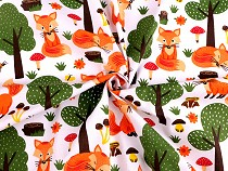 Cotton Fabric Fox