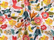 Cotton Fabric Birdie