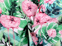 Cotton Fabric Flowers, Flamingo