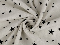 Cotton Fabric / Linen Imitation Corse, Stars