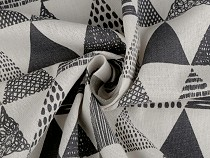 Cotton Fabric / Linen Imitation Corse, Triangles