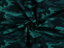 Cotton Knitwear with digital printing, Camouflage