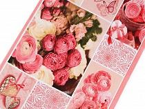 Bavlněné vaflové piké šíře 50 cm růže