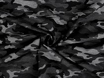 Cotton Jersey, Grey Camouflage