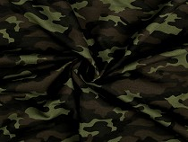 Cotton Jersey, Green Camouflage