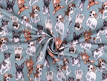 Cotton Jersey Fabric with Digital Printing Dogs