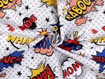Tkanina dekoracyjna Loneta komiks