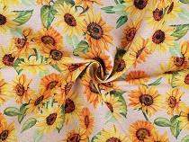 Material decorativ cu motiv floral