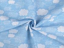 Tkanina dekoracyjna Loneta chmurki