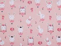 Tkanina bawełniana króliczki